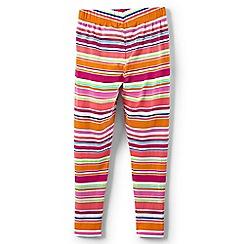 Lands' End - Multicoloured toddler girls' patterned ankle-length jersey leggings