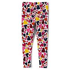 Lands' End - Girls' pink patterned ankle-length leggings