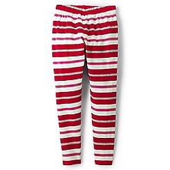Lands' End - Red girls' patterned ankle-length leggings