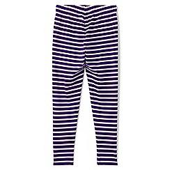 Lands' End - Girls' purple patterned ankle-length leggings