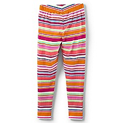 Lands' End - Multicoloured girls' patterned ankle-length leggings