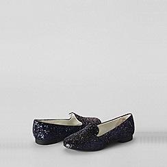 Lands' End - Black girls' viva venetian slipper shoes