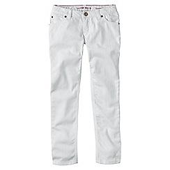 Lands' End - Girls' white vintage grey pencil leg jeans