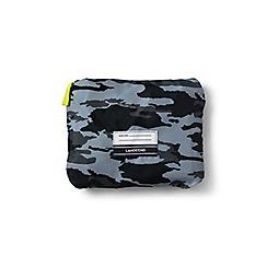 Lands' End - Boys' black camo print drawstring gym bag