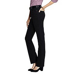 Lands' End - Black petite high rise straight leg black jeans