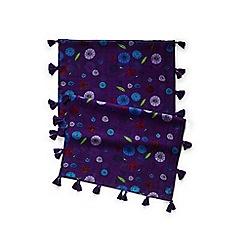 Lands' End - Girls' purple tassel scarf