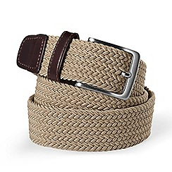 Lands' End - Tan regular plaited elastic belt
