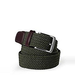 Lands' End - Green Regular Plaited Elastic Belt