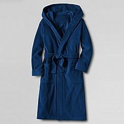 Lands' End - Blue boys' hooded fleece dressing gown