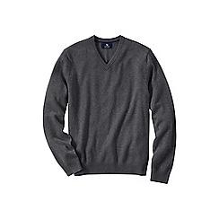 Lands' End - Grey men's v-neck cashmere sweater