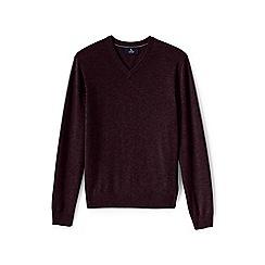 Lands' End - Purple v-neck cashmere sweater