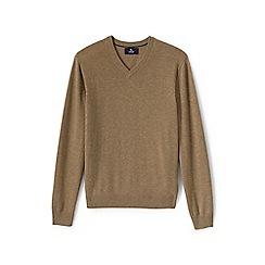 Lands' End - Beige v-neck cashmere sweater