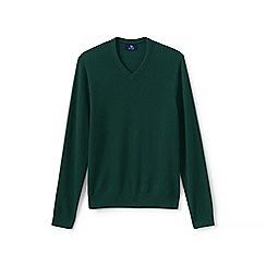 Lands' End - Green v-neck cashmere sweater