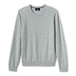Lands' End - Grey crew neck cashmere sweater