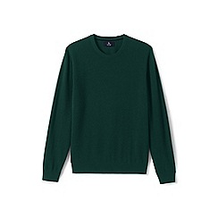 Lands' End - Green crew neck cashmere sweater