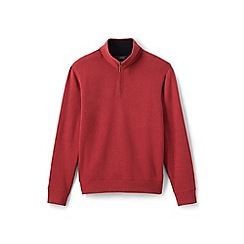 Lands' End - Red brushed rib half-zip pullover