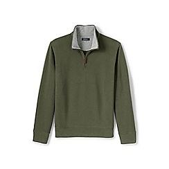 Lands' End - Green brushed rib half-zip pullover