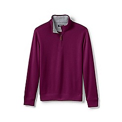 Lands' End - Purple Tall Brushed Rib Half-Zip Pullover