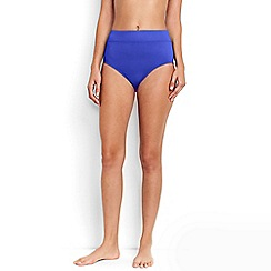 Lands' End - Blue Beach Living High Rise Bikini Bottoms - Tummy Control