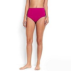 Lands' End - Pink beach living high rise bikini bottoms - tummy control