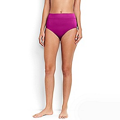 Lands' End - Pink Beach Living High Rise Bikini Bottoms - Tummy Control