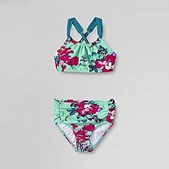 Lands' End - Multi little girls' sea garden high waisted bikini set