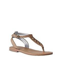 Lands' End - Girls' beige athena studded dress sandals