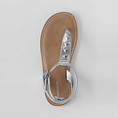 Lands' End - Grey girls' athena studded sandals