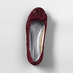 Lands' End - Red classic flat ballet shoes