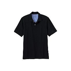 Lands' End - Black men's short sleeve original pique polo shirt