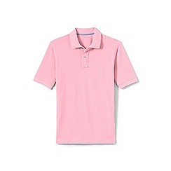 Lands' End - Pink traditional fit pique polo shirt