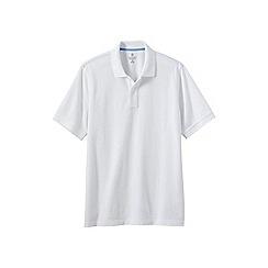 Lands' End - White men's short sleeve original pique polo shirt