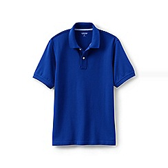Lands' End - Blue short sleeve original pique polo shirt