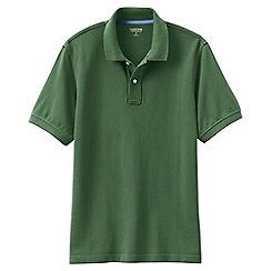 Lands' End - Green short sleeve tailored fit original pique polo shirt
