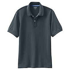 Lands' End - Grey short sleeve tailored fit original pique polo shirt