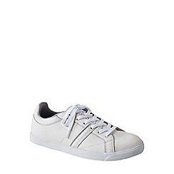 Lands' End - White classic lace-up trainers