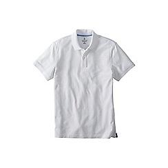 Lands' End - White tall  short sleeve original pique polo shirt