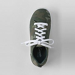 Lands' End - Green youth canvas trainers
