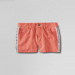 Lands' End - Orange little girls' 5pkt twill shorts