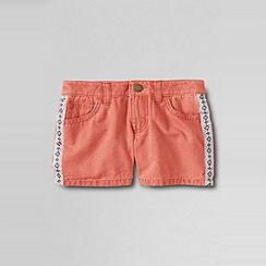 Lands' End - Orange girls' 5pkt twill shorts