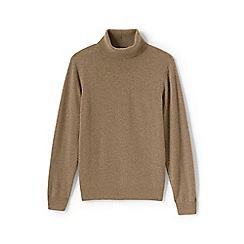 Lands' End - Beige regular roll neck cashmere sweater