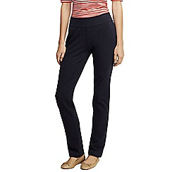 Lands' End - Black women's regular starfish slim leg trousers