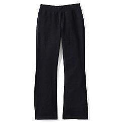 Lands' End - Black girls' bootcut yoga pants
