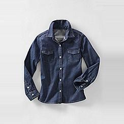Lands' End - Blue denim shirt