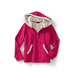 Lands' End - Girls' pink long sleeve sherpa hoodie