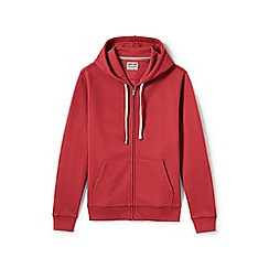 Lands' End - Red Serious Sweats Hooded Zip Jacket