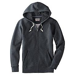 Lands' End - Grey men's serious Sweatshooded zip jacket
