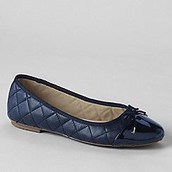 Lands' End - Blue quilted ballet shoes