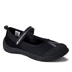 Lands' End - Black girls' mary jane play shoes