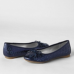 Lands' End - Metallic perforated ballet shoes